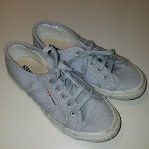 Superga 2750 Linu Light Blue Chambray Canvas Shoes
